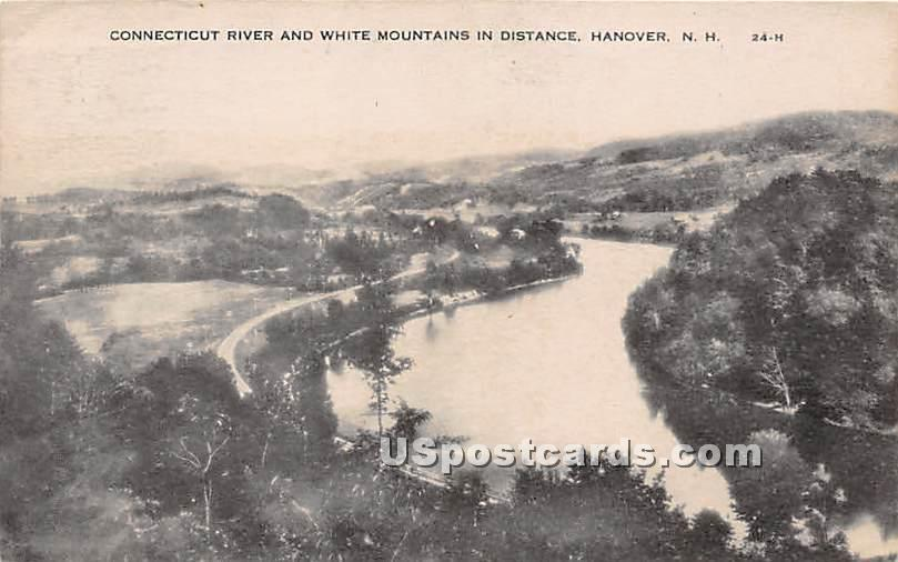 Connecticut River & White Mountains - Hanover, New Hampshire NH Postcard