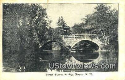 Court St. Bridge - Keene, New Hampshire NH Postcard