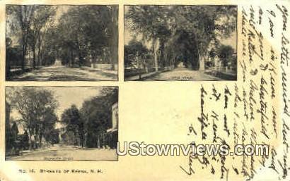 Sts. - Keene, New Hampshire NH Postcard
