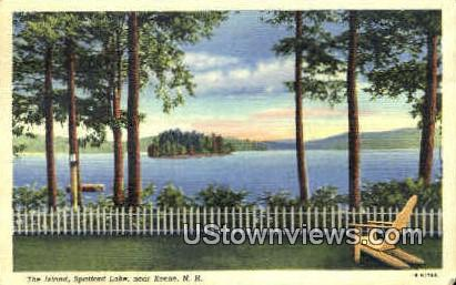 The Island, Spafford Lake - Keene, New Hampshire NH Postcard