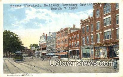 Keene Electric Railway - New Hampshire NH Postcard