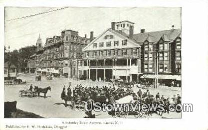 Street Auction - Keene, New Hampshire NH Postcard