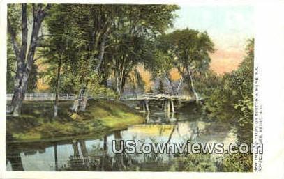 Ashuelot River - Keene, New Hampshire NH Postcard