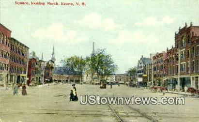 Square - Keene, New Hampshire NH Postcard