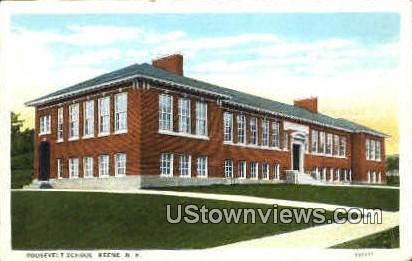 Roosevelt School - Keene, New Hampshire NH Postcard