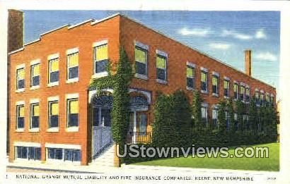 Fire Insurance Companies - Keene, New Hampshire NH Postcard