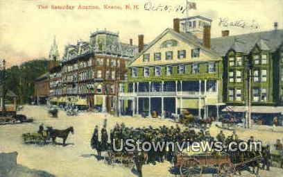 The Saturday Auction - Keene, New Hampshire NH Postcard