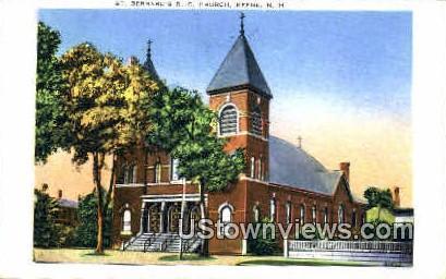 St. Bernard's R. C. Church - Keene, New Hampshire NH Postcard