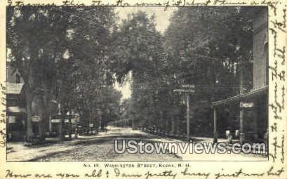 Washington St. - Keene, New Hampshire NH Postcard