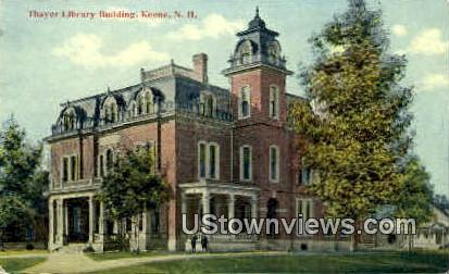 Thayer Library Building - Keene, New Hampshire NH Postcard