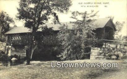Old Covered Bridge - Keene, New Hampshire NH Postcard