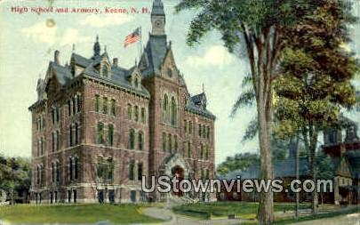 High School & Armory - Keene, New Hampshire NH Postcard