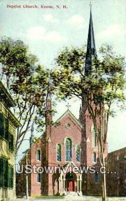 Baptist Church - Keene, New Hampshire NH Postcard