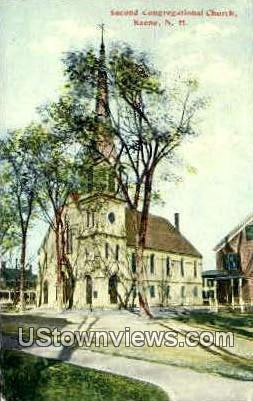Second Congregational Church - Keene, New Hampshire NH Postcard