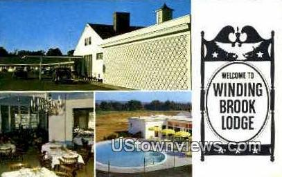Winding Brook Lodge - Keene, New Hampshire NH Postcard