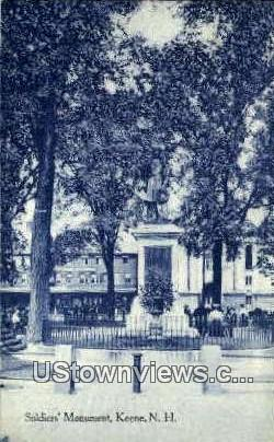 Soldier's Monument - Keene, New Hampshire NH Postcard
