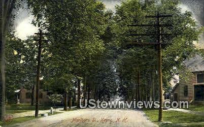 Marlboro St. - Keene, New Hampshire NH Postcard