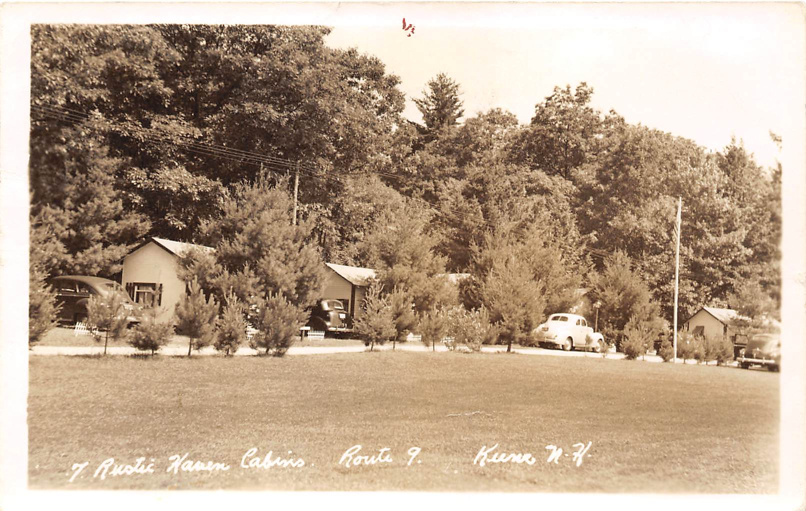 7 Rustic Cabins - Keene, New Hampshire NH Postcard