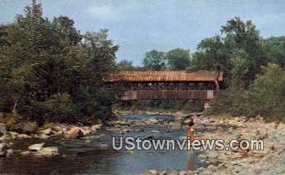 Bridge - Lancaster, New Hampshire NH Postcard