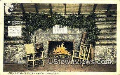 Interior, Lost River Shelter - White Mountains, New Hampshire NH Postcard