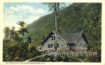 Lost River Shelter - White Mountains, New Hampshire NH Postcard