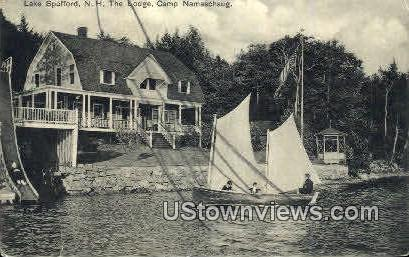 The Lodge, Camp Namashaug - Lake Spofford, New Hampshire NH Postcard