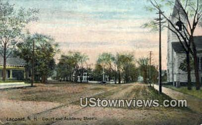 Court & Academy Sts. - Laconia, New Hampshire NH Postcard
