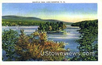 Emerald Isle - Lake Sunapee, New Hampshire NH Postcard