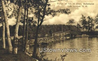 Bridge, Isle of Pines - Lake Sunapee, New Hampshire NH Postcard