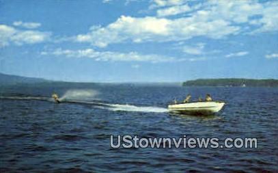 Water Skiing - Lake Winnipesaukee, New Hampshire NH Postcard