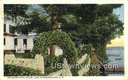 The Shore Path - Lake Winnipesaukee, New Hampshire NH Postcard