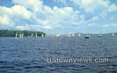 Sailing - Lake Winnipesaukee, New Hampshire NH Postcard