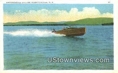 Speedobating - Lake Winnipesaukee, New Hampshire NH Postcard
