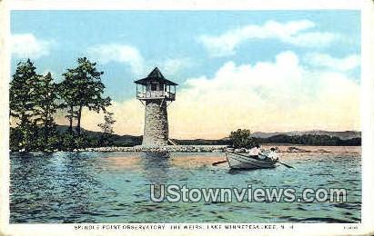 Spindle Point Observatory - Lake Winnipesaukee, New Hampshire NH Postcard
