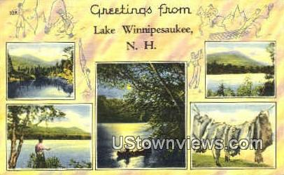 Greetings From - Lake Winnipesaukee, New Hampshire NH Postcard