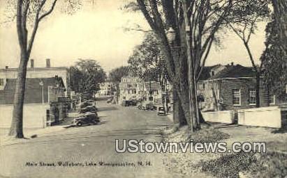 Main St. - Lake Winnipesaukee, New Hampshire NH Postcard