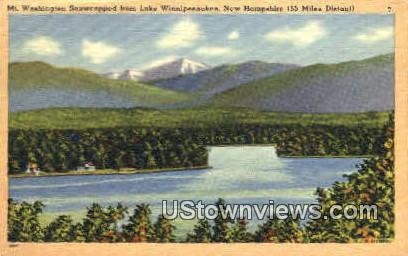 Mt. Washington - Lake Winnipesaukee, New Hampshire NH Postcard