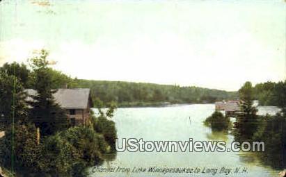 Channel - Lake Winnipesaukee, New Hampshire NH Postcard