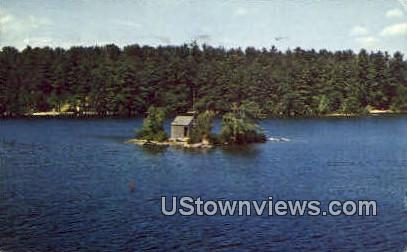 One Mile Island - Lake Winnipesaukee, New Hampshire NH Postcard