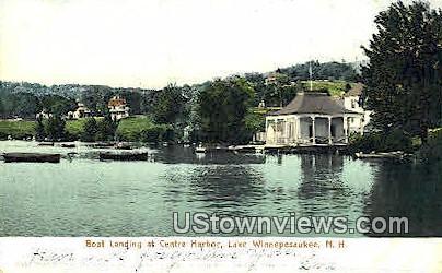 Boat Landing, Centre Harbor - Lake Winnipesaukee, New Hampshire NH Postcard