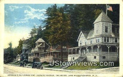 Lakeside Ave. - Lake Winnipesaukee, New Hampshire NH Postcard