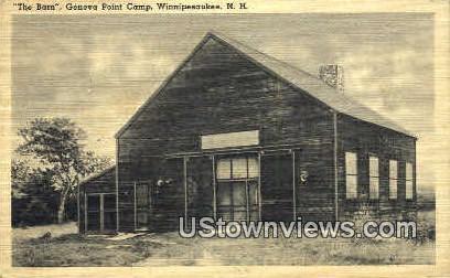 The Barn, Geneva Point Camp - Lake Winnipesaukee, New Hampshire NH Postcard