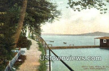 Shore Path - Lake Winnipesaukee, New Hampshire NH Postcard