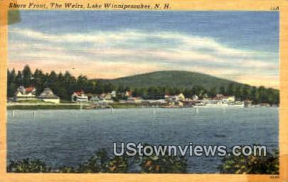 Shore Front, The Weirs - Lake Winnipesaukee, New Hampshire NH Postcard