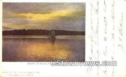 Meridith Shore - Lake Winnipesaukee, New Hampshire NH Postcard