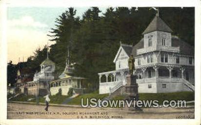 Soldiers Monument - Lake Winnipesaukee, New Hampshire NH Postcard