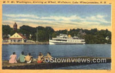 M.V. Mt. Washington - Lake Winnipesaukee, New Hampshire NH Postcard