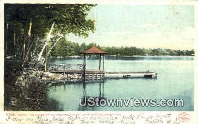 Shore, Wolfeborough Bay - Lake Winnipesaukee, New Hampshire NH Postcard