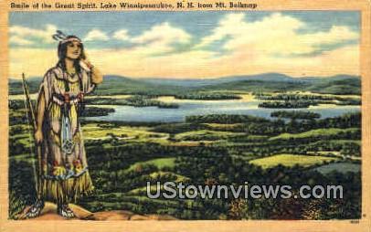 Smile of the Great Spirit - Lake Winnipesaukee, New Hampshire NH Postcard