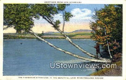 The Fisherman's Paradise - Lake Winnipesaukee, New Hampshire NH Postcard